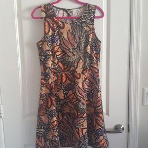 Floral boho dress with cutout